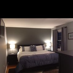 Beautiful photo of great decorating...more details in the comments.  I need to find the perfect grey walls.