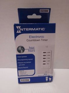 New Intermatic Electronic Countdown Timer Replaces Any Indoor Wall Switch EI220W…