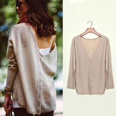 FanShou Free Shipping 2014 Women Sweater Spring Autumn Batwing Sleeve Casual Pullover Sweater Back V Neck Knitted Sweater 5539-in Pullovers from Apparel & Accessories on Aliexpress.com | Alibaba Group