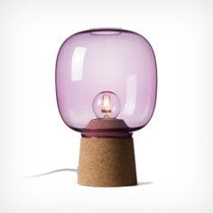 Tischlampe Picia lila - Kork und Glas - hergestellt in Italien/made in Italy   via https://diesellerie.com