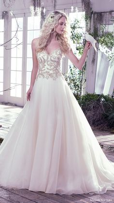 MAGGIE SOTTERO bridal fall 2016 #strapless sweetheart ball gown wedding dress (lorenza) fv  #bridal #wedding #weddingdress #weddinggown #bridalgown #dreamgown #dreamdress #engaged #inspiration #bridalinspiration #weddinginspiration #weddingdresses #ballgown