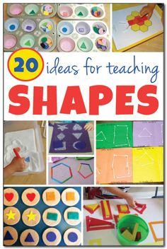 20 ideas for teaching shapes || Gift of Curiosity