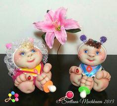 Интерьерные куклы Бебики.Скульптурно-чулочная техника.