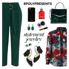 """#PolyPresents: Statement Jewelry"" by nastenkakot ❤ liked on Polyvore featuring Adam Selman, River Island, Brahmin, Kate Spade, Forever Creations USA, Jacquie Aiche, Bobbi Brown Cosmetics, contestentry and polyPresents"