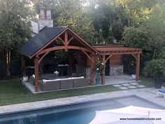 The pergola you choose will probably set the tone for your outdoor living space, so you will want to choose a pergola that matches your personal style as closely as possible. The style and design of your PerGola are based on personal Backyard Pavilion, Outdoor Pavilion, Backyard Patio Designs, Pergola Designs, Backyard Landscaping, Pool House Designs, Backyard Gazebo, Wood Pergola, Outdoor Pergola