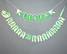 Dinosaur Banner - With Outline - Dinosaur Birthday Banner - Dino Party - Dino Birthday- Dinosaur Party -Dinosaur Theme-  Personalized Banner