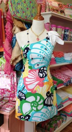 lilly-pulitzer I personally wouldn't wear it but I like the neckline and how the fabric I slated across the dress