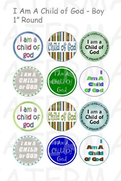 I Am A Child of God  2013 Primary Theme  Boy Colors  by OldMarket, $2.00
