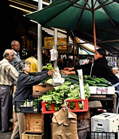 """Philadelphia Italian Market The """"Italian Market"""" stretches for several blocks down south 9th Street in Philadelphia. Stores and stands sell everything from pasta, pizza, and sausages, to veggies & fruits, as well as ostrich, cheesesteaks, and tripe sandwiches. In recent years, several good Mexican taco places and Vietnamese restaurants have opened in the area."""