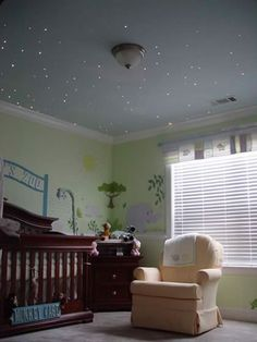 "Fiber optic ""starry sky"" lighting for the nursery, movie room, or anything!"