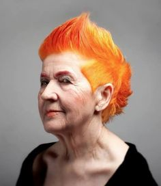 ah! I love this so much! yellow and red and orange. This is how my hair will look at her age I'm sure