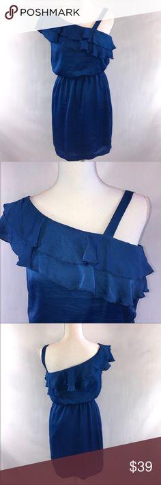 City Triangles Royal Blue One Shoulder Dress Small G City Triangles Dresses One Shoulder