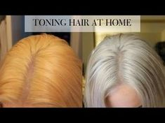 How to tone Brassy hair on a toned blonde in 15 minutes at home - Toning Bleached Hair, Toning Blonde Hair, Dying Hair Blonde, Bleach Blonde Hair, How To Tone Blonde Hair, Diy Bleach Hair, How To Blonde Hair At Home, Tone Yellow Hair, Yellow Blonde Hair
