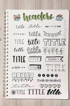 The ultimate collection of bullet journal header and title ideas for inspiration! #bulletjournal #bujoheader #bujoideas