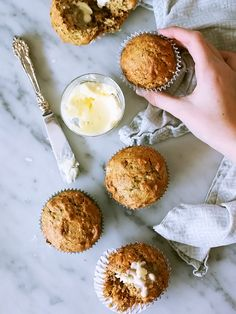 Banana Bread Muffins with Coconut foodiecrush.com