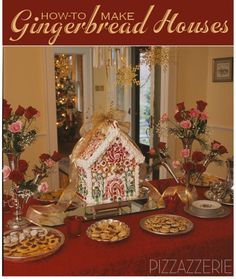 How To Make Gingerbread Houses on http://pizzazzerie.com