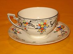 ducal crownl dishes | ART DECO CROWN DUCAL BREAKFAST SIZE CUPS | Tea Pots & Cups & Saucers