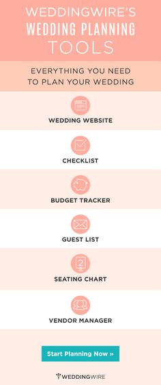 All the free #WeddingWire tools you need to make wedding planning easy and fun! Start using them today!