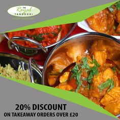 The Royal Tandoori offers delicious Indian Food in Chatham, Rochester Browse takeaway menu and place your order with ChefOnline. Indian Food Recipes, Ethnic Recipes, Food Items, A Table, Curry, Menu, Delivery, Favorite Recipes