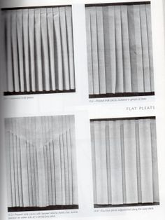 I looked at the book 'Manipulation of Fabric' to understand how to do pleats and different forms of pleating