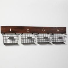 baskets for storage {wire baskets found at Hobby Lobby}