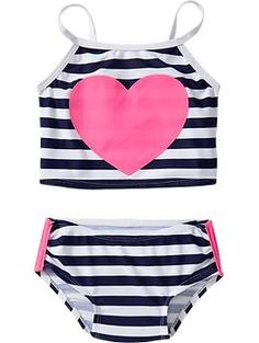 Shop toddler girl swimwear from Old Navy for lots of sweet styles, colors, and patterns. Toddler girls swimwear are summer must haves that are durably made. Trendy Baby Boy Clothes, Toddler Girl Outfits, Kids Outfits, Baby Swimwear, Baby Swimsuit, Baby Girl Fashion, Kids Fashion, Princess Dress Up, Girls Bathing Suits