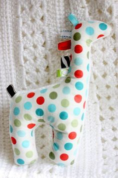 Soft, red blue and green polka dots, minky, cotton, stuffed animal baby boy toy  Just picture, sold etsy | http://baby-and-kids-toys-and-products.micro-cash.org