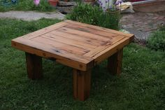 Coffee Table or Low Outdoor Table from Reclaimed Lumber. $450.00, via Etsy.