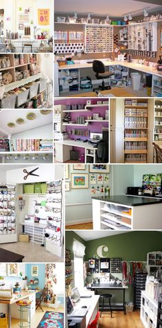 'Craft Room Design and Organization Ideas...!' (via Sortrature)
