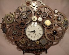 Ooohhh,  I want this clock for my collection.  Steampunk Clock.