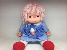 """Vintage 1980 Ice Cream ConeGirl Doll J Shin Mitchell CO. 24"""" Girl"""