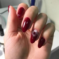 18 Red Nails Designs for Any Occasion ★ Half Moon Design for Red Nails Picture 3 ★ See more: http://glaminati.com/red-nails-designs/ #rednails #rednaildesigns