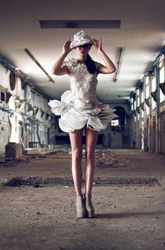 Plastic dress  photographed by Sandra Bourhani
