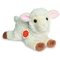 733ad41871834c Hermann 93437 Lamb Lying Plush Down On The Farm, Detail, Teddy Bear, Toys
