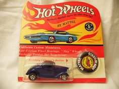 Ford Coupe BP - Blister has a tack hole and a slightly soft lower left corner, otherwise it is case fresh, solid plastic crack free. Rare, double button package, car has a few micros but bold double shot of blue color.  	   	  Item Price: 	 	$165.00