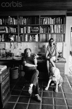Joan Didion & John Gregory Dunne. Brilliant writers, brilliantly in love, brilliant home.