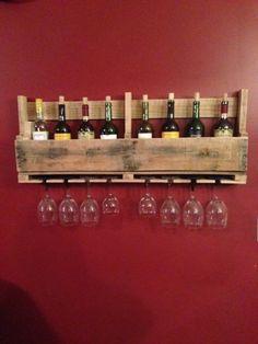 Como hacer un porta vinos con palets