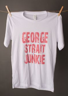 "Seriously, is anyone not a George Junkie! Just showing some love!! Unisex 3413/3415 Chest Size X-SMALL 31""-33"" SMALL 34""-37"" MEDIUM 38""-41"" LARGE 42""-45"" X-LARGE 46""-49"" 2X-LARGE 50""-53"""