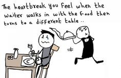 Hehe, every time I go to a restaurant... Great, now I'm hungry.
