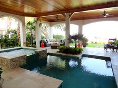 GREAT SHAPE SWIM SPA LANAI Design Ideas, Pictures, Remodel, and Decor - page 128