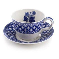 Spode Blue Geranium Teacup Set: Amazon.com: Kitchen & Dining