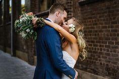 Natalie and Andrew in a Sydney alley . . . #sydneyweddingphotographer #sydneywedding #citywedding #thegroundsofalexandria #sydneybride #weddingday #weddinginspo #weddingdress #bouquet #kiss #lovers #romance #destinationweddingphotographer #australianwedding #classywedding #bridalblog #sydneyweddingplanner #bridalmagazine #vsco #llf #intimatewedding #elope #sydney #alexandria