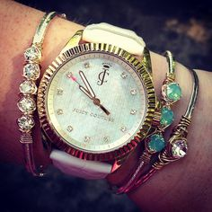 Juicy Couture watch and those bracelets are way too cute