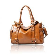 $18.38 Vintage PU Women's Shoulder Bag With Buckle and Zipper Design