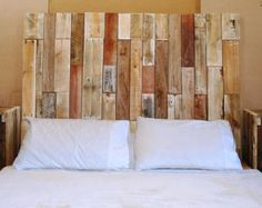 pallet furniture etsy. rustic reclaimed pallet wood chevron headboard local pick up only furniture etsy