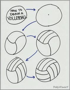 DVF Fitness: How to draw a volleyball and Volleyball Snacks, Volleyball Cupcakes, Volleyball Birthday Party, Volleyball Signs, Volleyball Crafts, Volleyball Posters, Sports Snacks, Team Snacks, Volleyball Mom