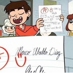 Lol Marco's middle name- haha why did he write his whole name? What a nerd! (In the most loving way) :>
