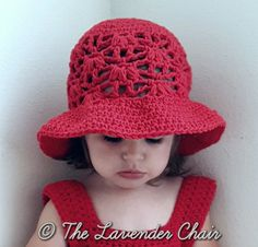 Weeping Willow Sunhat for Baby Infant and Child - Free Crochet Pattern - The Lavender Chair