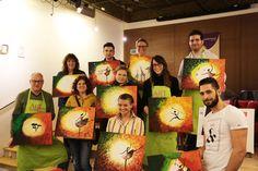 StuttgART IS PAINTING...  ARTMASTERS Paint Party - Auftakt in Stuttgart im Café Künstlerbund mit unserer tollen Künstlerin Sam. Ein wahnsinnig toller Abend in einer grandiosen Kunst-Location und super netten und kreativen Gästen...  Eure nächsten Events findet ihr unter www.artmasters.de - wir freuen uns auf Euch!  #stuttgart #paintparty #malparty #malenlernen #malen #kreativität #erlebnis #neuinstuttgart #drinks #leutekennenlernen #newintown #ausgehen #ausgeheninstuttgart #kreativerlebnis