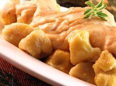 Massa para Nhoque - com muitas dicas boas, inclusive a  de cozinhar a batata no microondas...